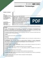 NBR 12553 - 2003 - Geotexteis- Terminologia