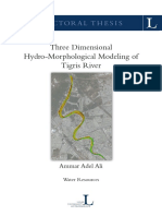 Three Dimensional Hydro-morphological Modeling of Tigris River