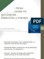 10.45 Hs Dr Hernandez Trauma de Torax Complicaciones No Quirurgicas