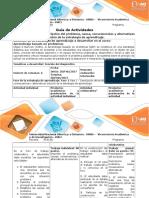 Guía evaluación Intermedia Fase 1 Descripción del problema, causa, consecuencia y alternativa de solución