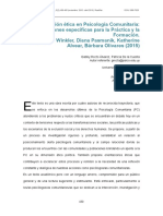 Etica y Psicologia Comunitaria