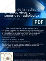 Efectos de La Radiación en Seres Vivos