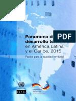 Panorama Del Desarrollo Territorial en AL y El Caribe CEPAL