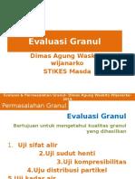 Evaluasi Dan Permasalahan Dalam Granul