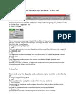 Fungsi Menu Dan Ikon Pada Microsoft Excel 2010