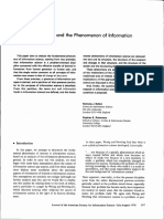 1. BELKIN, N e ROBERTSON, S - Information Science and the Phenomenon of Information