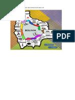 Mapa Geografico de Recursos en Boliva