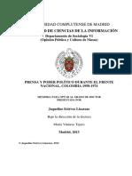Prensa y Poder Politico Durente El Frente Nacional.