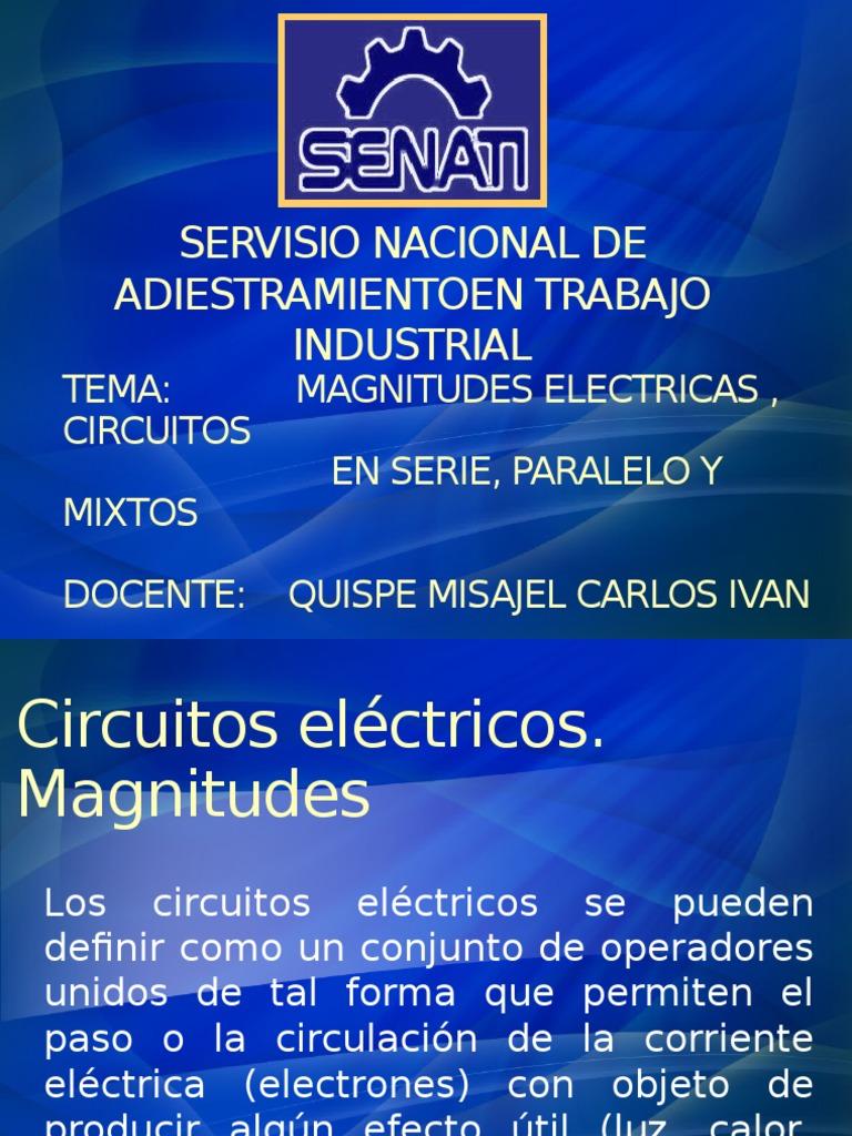 Circuito Hidraulico Mixto : Magnitudes eléctricas circuitos en serie paralelo y mixtos