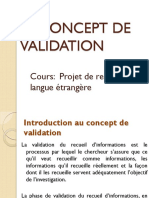 Le Concept de Validation