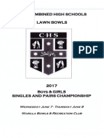 Chs Singles & Pairs Program 2017