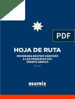 Programa de Gobierno BEATRIZ SANCHEZ MUÑOZ