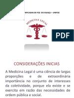 Aula I - Introdução à Medicina Legal