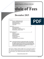 Mass RMV Schedule of Fees 12-2015