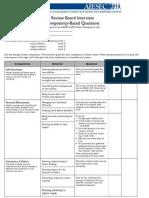 RBI Questionnaire