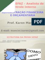 Curso Sefaz Analista de Controle Interno - Professor (Com Gabarito)