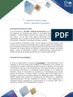 Presentación del curso 301308 Analisis de Sistemas