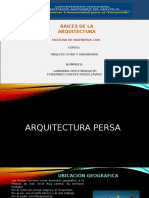 ARQUITECTURA Persa y Griega