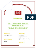 Assignment on ISO