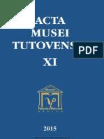 11 Acta Musei Tutovensis XI Barlad 2015