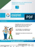 Regulacion y Promocion de Los Servicios de Telecomunicaciones en La Region