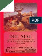 Del Mal, ensayo para introducir en Filosofia el concepto del mal.pdf