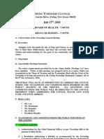 2010-07-27 Council Regular Agenda