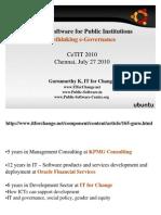 Presentation at CETIT, Tami Nadu - Public Software for Public Institutions July 2010