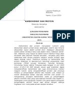 Laporan Praktikum Biokimia Karbohidrat Dan Protein