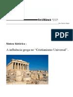 Sintese História - A Influência Grega No Cristianismo Universal