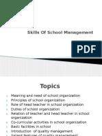 Skills of School Management