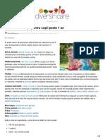 Diversificare.ro-meniu de Vacanță Pentru Copii Peste 1 An
