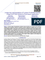 Design and Implementation of Lecturer Evaluation System Using ELECTRE Method in Web-based Application