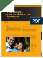 Pocos Peruanos Realizan Testamento