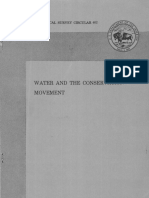 Water and the Conservation Movement