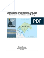 Impacts of Climate Change on the Cultural Resources and Natural Habitats of the Canadian Western Arctic – Herschel Island, Yukon Territory