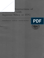 Chemical Interactions of Aluminum with Aqueous Silica at 25°C