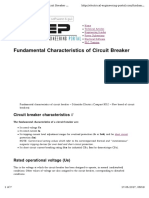 Fundamental Characteristics of Circuit Breaker