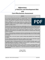 Afghanistan - A Preliminary Fiduciary, Development Risk and Cost-EffectivenessAssessment FDR CEA 2015