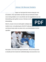 Tandartsbehandelingen onder Narcose bij CDC Tandzorg