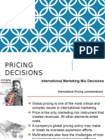 Unit III Pricing Decisions in IM
