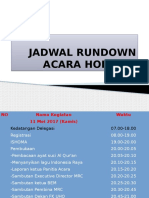 Jadwal Rundown Acara