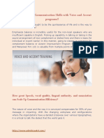 Voice and Accent Training