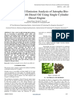 Performance and Emission Analysis of Jatropha Bio-Diesel Blends With Diesel Oil Using Single Cylinder Diesel Engine (1)