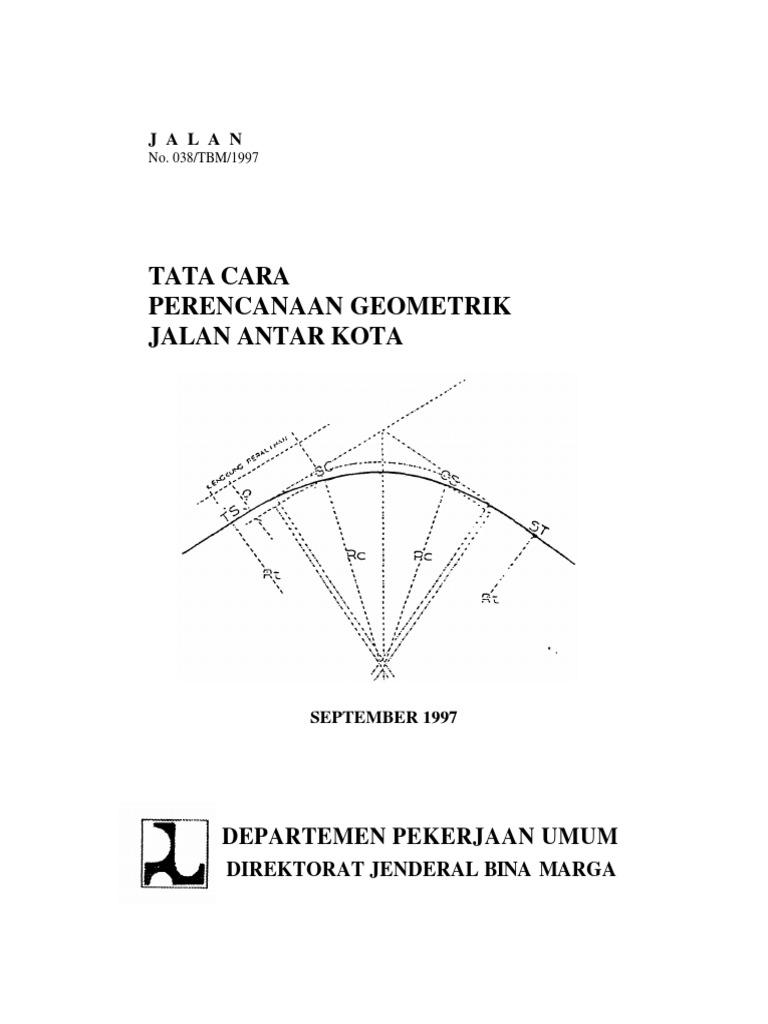 Tata cara perencanaan geometri jalan antar kotapdf ccuart Images
