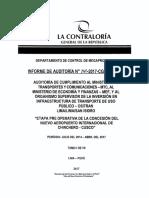 Informe de la Contraloría General de la República 265-2017 sobre la adenda del contrato del aeropuerto de Chinchero