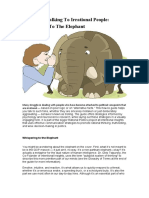 Guide for Talking to Irrational People Whispering to the Elephant