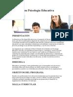 Maestría en Psicología Educativa