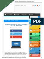Mengatasi Notebook Acer One 14 Sulit Masuk BIOS Dan Install Ulang _ X-Cube96
