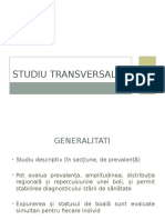 Studiu Transversal